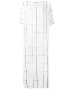 STUDIO NICHOLSON | Checked Oversized Dress 0 Viscose/Linen/Flax