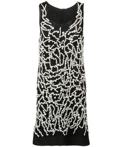 Vera Wang | Pearl Embroide Tank Dress 6 Nylon/Plastic