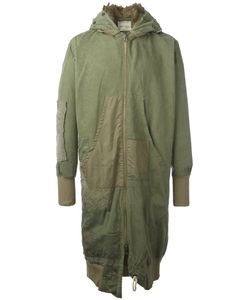 GREG LAUREN | Flight Studio Coat 3 Wool/Cotton/Polyester/Artificial Fur