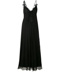 Lanvin | Платье В Пол С Кружевной Отделкой