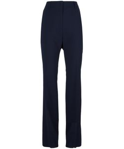 Jil Sander | Straight Trousers 36 Cotton/Polyester/Spandex/Elastane/Virgin Wool
