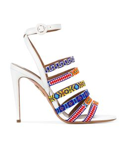 Aquazzura   Masai Beaded Sandals Size 36.5