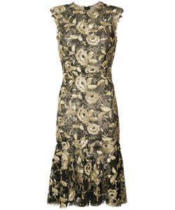 Monique Lhuillier   Платье С Цветочным Узором