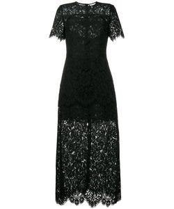 Ganni | Гипюровое Платье Длины Миди Duvallace