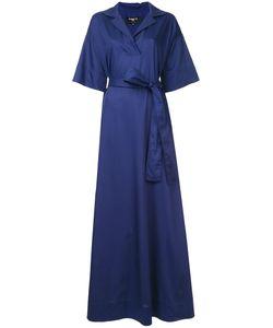 Paule Ka | Long Woven Wrap Dress