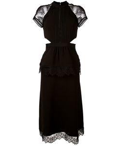 SELF-PORTRAIT   Cut-Out Detail Midi Dress