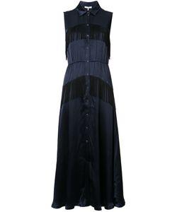 Ganni | Платье-Рубашка С Бахромой
