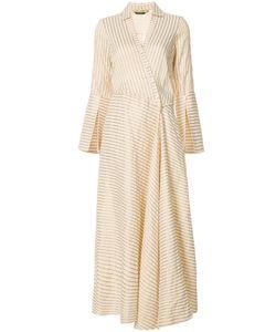 HELLESSY | Расклешенное Платье С Запахом В Полоску