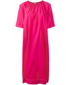 Hache | Gathe Neck Shift Dress 42 Cotton/Spandex/Elastane