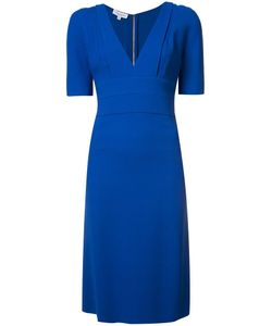 Narciso Rodriguez | Fitted Waist V-Neck Dress 44 Viscose/Spandex/Elastane