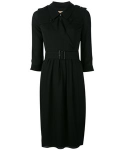 Burberry | Belted Wrap Dress 8 Silk/Spandex/Elastane