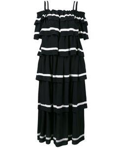 ROSSELLA JARDINI   Off-Shoulders Layered Maxi Dress