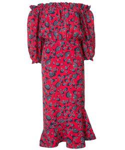 Saloni | Off Shoulder Printed Dress