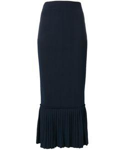 Jonathan Simkhai | Ruffled Hem Fitted Skirt Xs Rayon/Nylon