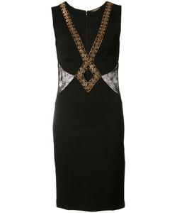 Roberto Cavalli | Embroidered Mini Dress