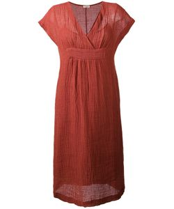 Masscob | V-Neck Midi Dress Medium Cotton/Linen/Flax