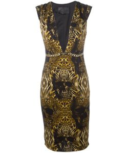 Philipp Plein | Printed Plunge Dress