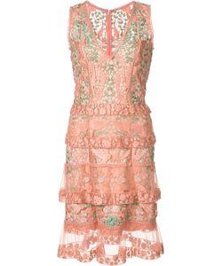 Marchesa Notte | Sheer Layered Dress