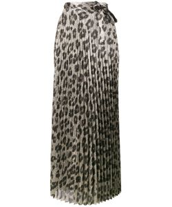 Haider Ackermann   Pleated Glitter Leopard Print Skirt Size 38