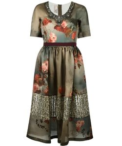 Antonio Marras | Print Dress 44 Silk/Polyester/Polyamide