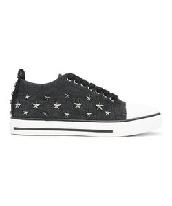 Red Valentino | Star Studded Sneakers 38 Leather/Cotton/Metal Other