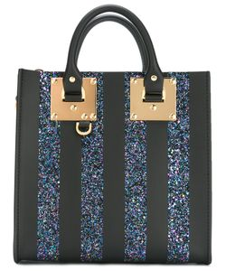 Sophie Hulme | Glitter Square Albion Tote Leather/Pvc