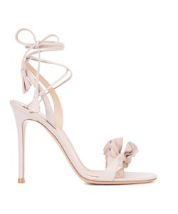Gianvito Rossi | Gathered Detail Lace-Up Sandals