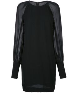Martin Grant | Sheer Sleeve Mini Dress 38 Silk