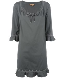 Fay | Ruffled Details Dress Large Cotton/Spandex/Elastane