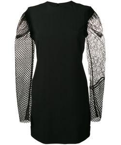 Saint Laurent | Contrasting Sleeve Mini Dress 38 Acetate/Viscose/Polyester/Silk