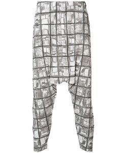HOMME PLISSE ISSEY MIYAKE | Homme Plissé Issey Miyake Printed Drop Crotch Trousers