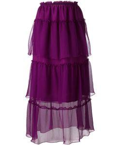 Sonia Rykiel | Laye Sheer Midi Skirt 36 Silk