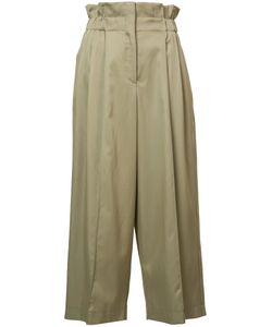 Sonia Rykiel | High-Rise Cropped Trousers 42 Rayon/Cotton