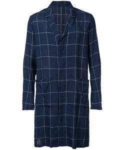 KAZUYUKI KUMAGAI | Checked Single Breasted Coat