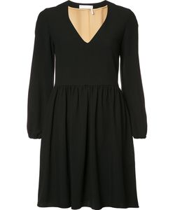 Chloe | Chloé V-Neck Short Dress 38 Polyester/Silk