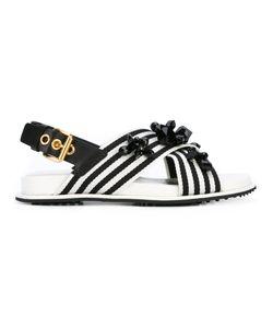 Carshoe | Car Shoe Cross-Over Embellished Sandals