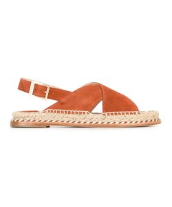 Paloma Barceló | Braided Trim Sandals 39 Suede/Leather