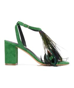 Jean-Michel Cazabat | Feather Detail Open Toe Sandals Size 36