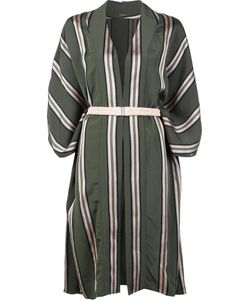 Adam Lippes   Striped Kimono Medium/Large Viscose