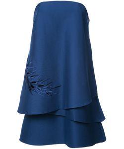 Halston Heritage | Layered Off-Shoulder Dress
