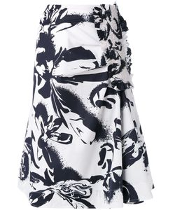 Cedric Charlier | Cédric Charlier Abstract Print Midi Skirt Size 42 Cotton/Other