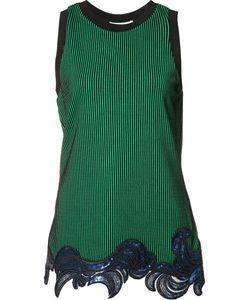 3.1 Phillip Lim | Sequin Embroide Tank Top Xs Polyester/Spandex/Elastane/Viscose