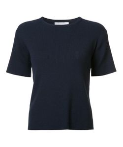 RYAN ROCHE   Ribbed T-Shirt Small Polyester/Cashmere
