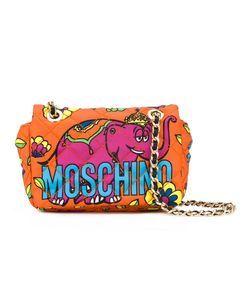 Moschino   Elephant Print Shoulder Bag Cotton