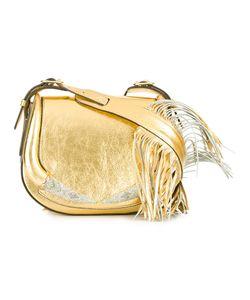 Roberto Cavalli   Fringed Shoulder Bag Leather/Glass