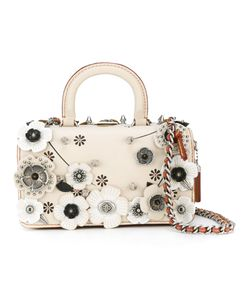 COACH | Flower Embellished Tote Leather/Metal Other