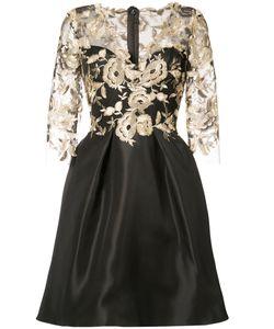 Monique Lhuillier   Двухслойное Платье С Цветочным Узором