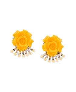 Elizabeth Cole | Flower Earrings Women Swarovski Crystal Plated