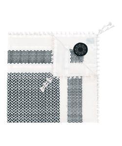 Amen   Chevron Detail Scarf Silk/Cotton