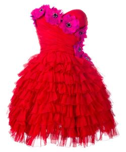Dolce & Gabbana   Bustier Ruffle Flower Dress